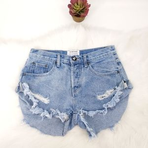 Free people cheeky cut off shorts high rise
